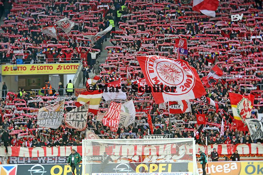 Mainzer Fans - 1. FSV Mainz 05 vs. Borussia Dortmund, Coface Arena, 14. Spieltag