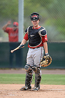Arizona Diamondbacks catcher Tyler Baker (5) during an Instructional League game against the Los Angeles Angels on October 7, 2014 at Salt River Fields at Talking Stick in Scottsdale, Arizona.  (Mike Janes/Four Seam Images)