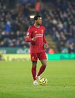 26th December 2019; King Power Stadium, Leicester, Midlands, England; English Premier League Football, Leicester City versus Liverpool; Georginio Wijnaldum of Liverpool with the ball at his feet - Strictly Editorial Use Only. No use with unauthorized audio, video, data, fixture lists, club/league logos or 'live' services. Online in-match use limited to 120 images, no video emulation. No use in betting, games or single club/league/player publications