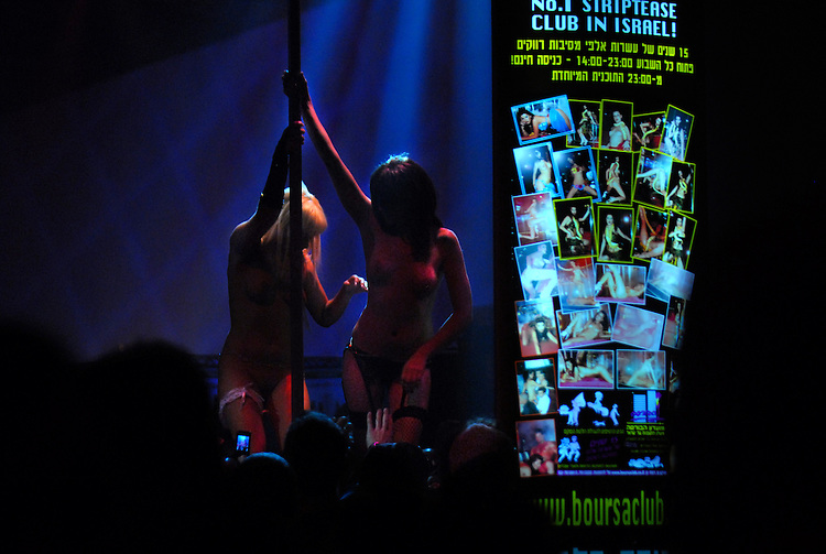 ISRAEL Tel Aviv<br /> Strippers on a public show during the first Israeli Sex Fair.