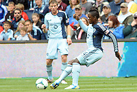 Mechack Jerome (24) defender Sporting KC in action..Sporting Kansas City defeated Chivas USA 4-0 at Sporting Park, Kansas City, Kansas.