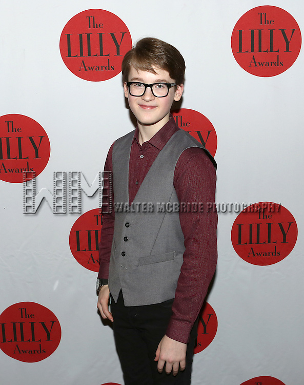 Jake Lucas backstage at The Lilly Awards Broadway Cabaret'   at The Cutting Room on November 9, 2015 in New York City.
