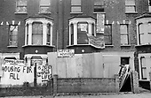 Squatted houses in Bravington Road, North Paddington, London.