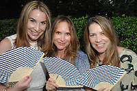 Claire Block, Sheryl Amster, Jennifer Hawks==<br /> LAXART 5th Annual Garden Party Presented by Tory Burch==<br /> Private Residence, Beverly Hills, CA==<br /> August 3, 2014==<br /> ©LAXART==<br /> Photo: DAVID CROTTY/Laxart.com==