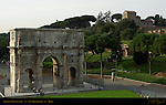Arch of Constantine 315 AD North side from Colosseum Via Triumphalis Rome
