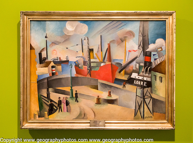 'The Port of Bordeaux, undated by Andre Lhote ( 1885-1962), oil on canvas, Kode 4 art gallery Bergen, Norway - check copyright status for intended use