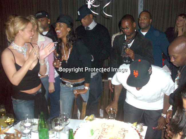 Mariah Carey, Paris Hilton, Damon Dash, Jay-Z, Andre Harrell and Sean P. Diddy Combs<br />