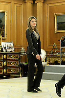 Letizia of Spain attends audiences with a group of children painting competition winners 'Work of Missionary Infancy'.January 9 ,2012. (ALTERPHOTOS/Acero) /NortePhoto
