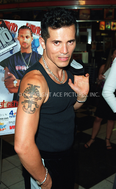 "John Leguizamo at the opening of the 3Rd Annual New York International Latino Film Festival and the premiere of ""Empire."" New York, July 31, 2002. Please byline: Alecsey Boldeskul/NY Photo Press.   ..*PAY-PER-USE*      ....NY Photo Press:  ..phone (646) 267-6913;   ..e-mail: info@nyphotopress.com"