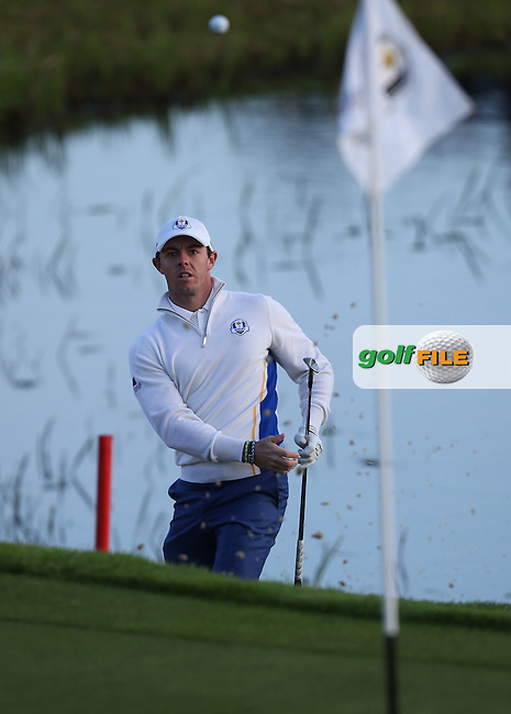 Rory McIlroy (EUR) during the Saturday morning Fourballs of the 2014 Ryder Cup at Gleneagles. The 40th Ryder Cup is being played over the PGA Centenary Course at The Gleneagles Hotel, Perthshire from 26th to 28th September 2014.: Picture David lloyd, www.golffile.ie: \27/09/2014\