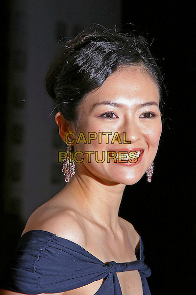 """ZIYI ZHANG.2004  American Film Festival (AFI Fest) press screening of """"House of Flying Daggers"""" held at the Arclight Theatre, Hollywood, California, USA, November 6th 2004..portrait headshot silver drop earrings.**UK SALES ONLY**.Ref: ADM.www.capitalpictures.com.sales@capitalpictures.com.©Capital Pictures."""