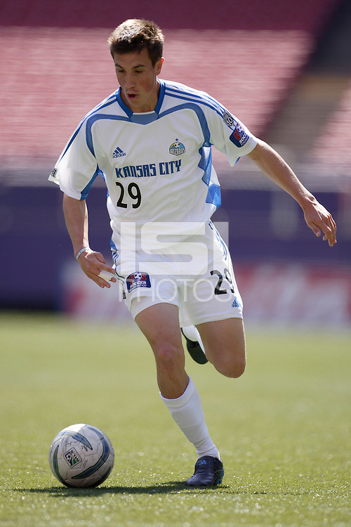 The Wizards' Ryan Pore. The MetroStars and the Kansas City Wizards reserve squads played to a scoreless tie in their first MLS reserve league game at Giant's Stadium, East Rutherford, NJ, on Sunday April 17, 2005.