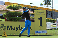 Daniel Im (USA) in action on the 1st tee during Round 1 of the Maybank Championship at the Saujana Golf and Country Club in Kuala Lumpur on Thursday 1st February 2018.<br /> Picture:  Thos Caffrey / www.golffile.ie<br /> <br /> All photo usage must carry mandatory copyright credit (© Golffile | Thos Caffrey)