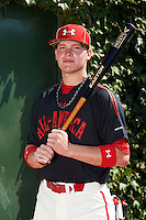 Pitcher / Outfielder Alex Verdugo (11) of Sahuaro High School in Tucson, Arizona poses for a photo before the Under Armour All-American Game on August 24, 2013 at Wrigley Field in Chicago, Illinois.  (Mike Janes/Four Seam Images)