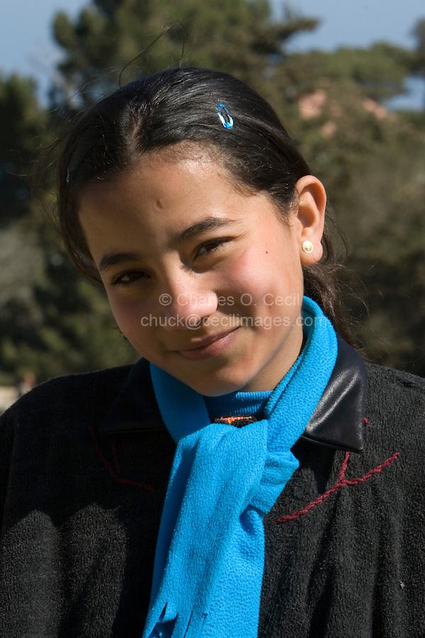 Cyrene, Shahat, Libya - Libyan Girl. 13 years old.