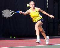 The University of Michigan Women Tennis Team in the first round of the 2010 NCAA Women Tennis Championships being held in the University of Georgia, Athens, GA. May 20th, 2010