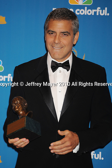 LOS ANGELES, CA. - August 29: George Clooney poses in the press room at the 62nd Annual Primetime Emmy Awards at Nokia Theatre Live L.A. on August 29, 2010 in Los Angeles, California.