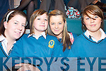LECTURE: Mercy Mounthawk students at the lecture by economist, Sir Clive Granger at the school on Monday morning, l-r: Sarah McLoughlin, Kelly Houlihan, Sarah Griffin and Christina Foley.   Copyright Kerry's Eye 2008
