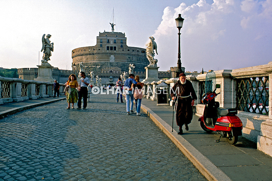 Castelo de Santo Angelo em Roma. Itália. 1998. Foto de Juca Martins.