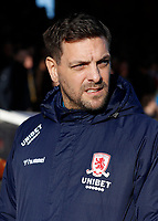 8th February 2020; Griffin Park, London, England; English Championship Football, Brentford FC versus Middlesbrough; Middlesbrough Manager Jonathan Woodgate