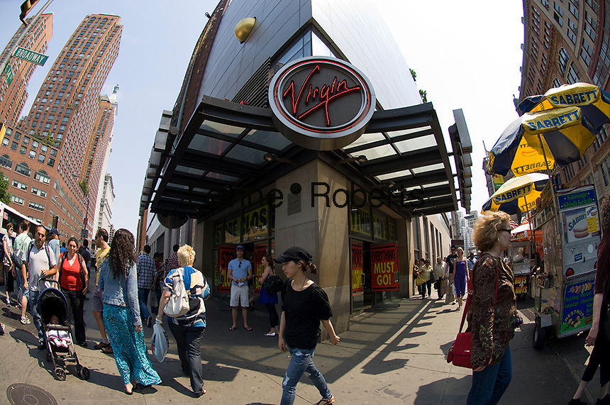 The Virgin Megastore in Union Square in New York on Saturday, May 23, 2009. The store will shut its doors in the summer.  (© Frances M. Roberts)
