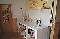 The lab corner with sulphur analysis equipment. Domaine du Grand Chemin, Vin de Pays d'Oc. in Savignargues. Languedoc. France. Europe.