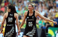 13.10.2013 Silver Fern Casey Kopua in action during the Silver Ferns V Australian Diamonds Netball Series played at the AIS Arena in Canberra Australia. Mandatory Photo Credit ©Michael Bradley.
