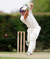Byron Hackshall bats for North London during the Middlesex County League Division three game between Wembley and North London at Vale Farm, Wembley on Sat August 6, 2011