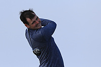 Jake Whelan (Newlands) on the 1st tee during Round 3 of The West of Ireland Open Championship in Co. Sligo Golf Club, Rosses Point, Sligo on Saturday 6th April 2019.<br /> Picture:  Thos Caffrey / www.golffile.ie