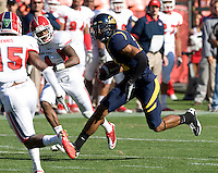 Keenan Allen of California runs the ball after caught a pass from Zach Maynard during the game against Fresno State at Candlestick Park in San Francisco, California on September 3rd, 2011.  California defeated Fresno State, 36-21.