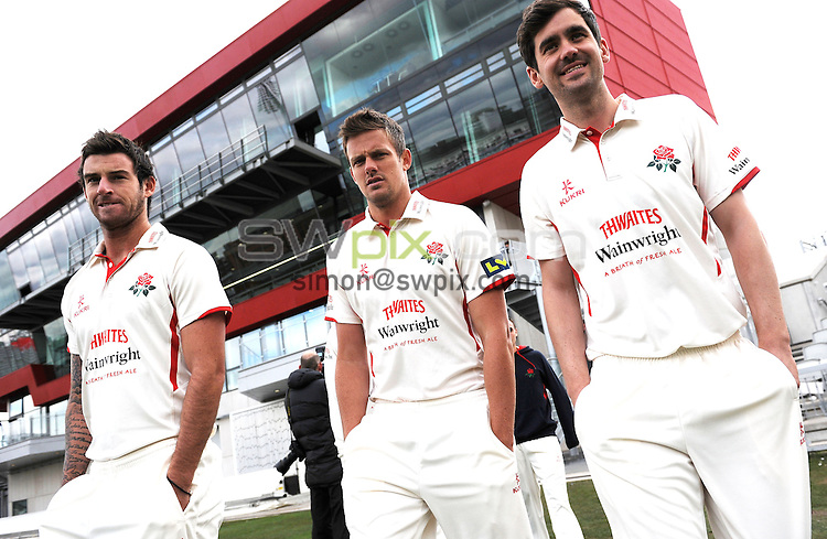 Picture by Simon Wilkinson/SWpix.com -  02/04/2013 Cricket Lancashire County Cricket Club - team media day and photocall Old Trafford Manchester - copyright picture - simon wilkinson - simon@swpix.com