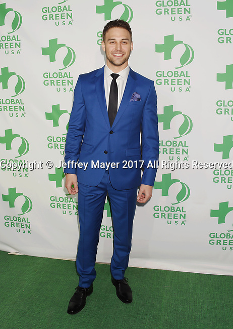 LOS ANGELES, CA - FEBRUARY 22: Actor Ryan Guzman arrives at the 14th Annual Global Green Pre-Oscar Gala at TAO Hollywood on February 22, 2017 in Los Angeles, California.