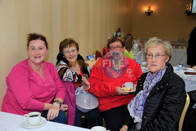 Jane Coyle, Mirium Coyle, Liz Doyle and Margaret Byrne<br /> at the coffee morning in the West Court Hotel for the Special Olympics.<br /> Picture Fran Caffrey www.golffile.ie