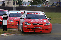 Round 7 of the 2002 British Touring Car Championship. #3 James Thompson (GBR). Vauxhall Motorsport. Vauxhall Astra Coupé.