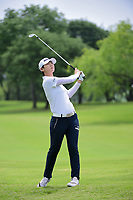 Sung Hyun Park (KOR) watches her approach shot on 9 during round 2 of  the Volunteers of America Texas Shootout Presented by JTBC, at the Las Colinas Country Club in Irving, Texas, USA. 4/28/2017.<br /> Picture: Golffile | Ken Murray<br /> <br /> <br /> All photo usage must carry mandatory copyright credit (&copy; Golffile | Ken Murray)