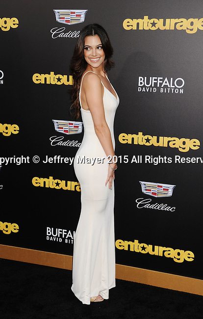 WESTWOOD, CA - JUNE 01: Actress Annabelle Acosta arrives at the 'Entourage' - Los Angeles Premiere at Regency Village Theatre on June 1, 2015 in Westwood, California.