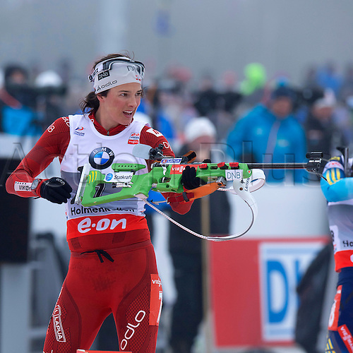 22.03.2014  Oslo, Norway The E.ON IBU World Cup Biathlon 2014 Ann Kristin Aafedt of Norway in action during the ladies 10 kilometre  pursuit at The EON IBU World Cup Biathlon Final from Holmenkollen in Oslo, Norway.