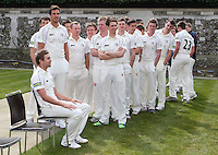 The Middlesex players line up for their individual head shots - Middlesex County Cricket Club Press Day at Lords Cricket Ground, London - 08/04/13 - MANDATORY CREDIT: Rob Newell/TGSPHOTO - Self billing applies where appropriate - 0845 094 6026 - contact@tgsphoto.co.uk - NO UNPAID USE.