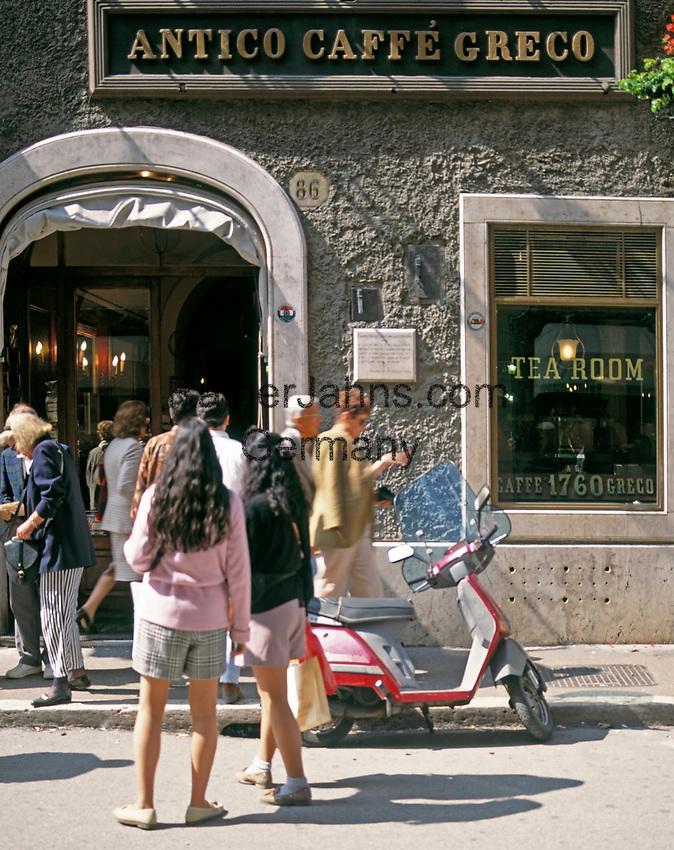 ITA, Italien, Lazio, Rom: Cafe Greco in der Via Condotti   ITA, Italy, Lazio, Rome: Cafe Greco at Via Condotti