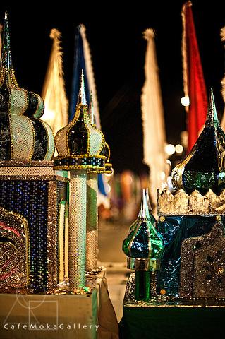 Hosay - Muslim festival. Detail of a tadjah or taj