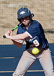March 10, 2012:   Nevada Wolf Pack's Ashley Butera watches an outside pitch go by against the Wisconsin Badgers during their NCAA softball game played as part of the The Wolf Pack Classic at Christina M. Hixson Softball Park on Saturday in Reno, Nevada.