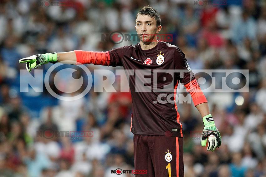 Galatasaray's Fernando Muslera during XXXVI Santiago Bernabeu Trophy. August 18,2015. (ALTERPHOTOS/Acero)