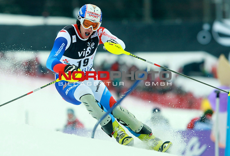 06.01.2011., Sljeme, Zagreb, Croatia - FIS Ski World Cup, Snow Queen Trophy, men slalom race, 1st run.<br /> Marc Gini.<br />                                                                                                   Foto:   nph / PIXSELL