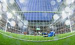 Stockholm 2014-09-21 Fotboll Superettan Hammarby IF - Syrianska FC :  <br /> Hammarbys Kennedy Bakircioglu skjuter en straff i stolpen under den f&ouml;rsta halvleken<br /> (Foto: Kenta J&ouml;nsson) Nyckelord:  Superettan Tele2 Arena Hammarby HIF Bajen Syrianska FC SFC remote remotekamera