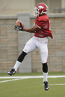 NWA Media/ANDY SHUPE - Arkansas cornerback D.J. Dean (2) works through drills during practice Saturday, Dec. 13, 2014, at the university's practice facility in Fayetteville.