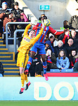 Dean Henderson of Sheffield Utd denies Christian Benteke of Crystal Palace during the Premier League match at Selhurst Park, London. Picture date: 1st February 2020. Picture credit should read: Paul Terry/Sportimage