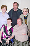 Shindig: Enjoying the Ballymac Social night on Friday were, front: Catherine and James McAuliffe, Knocknagoshel. Back: Joan Scannell, Damien Carmody and Tom McEllistrim of Ballymac..
