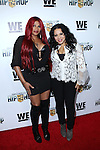 Sandra 'Pepa' Denton and Cheryl 'Salt' James attend WE TV's Growing Up Hip Hop Premiere Party Held at Haus