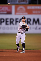 Visalia Rawhide second baseman Camden Duzenack (1) during a California League game against the San Jose Giants on April 12, 2019 at San Jose Municipal Stadium in San Jose, California. Visalia defeated San Jose 6-2. (Zachary Lucy/Four Seam Images)