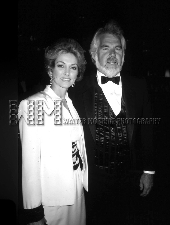 Kenny Rogers and Marianne Rogers on September 1, 1985 in Beverly Hills, California.